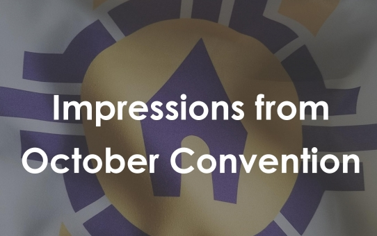Impressions from the 2019 October Convention